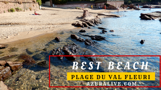 Favorite French Riviera Beach on AzurAlive.com: Plage du Val Fleuri