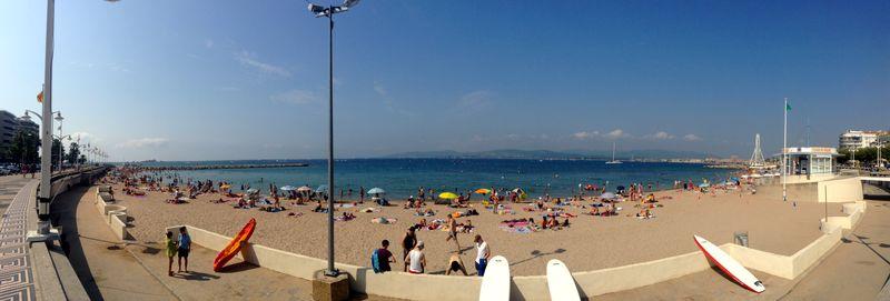 French Riviera Beaches: Plage du Veillat Panoramic View, Saint-Raphael